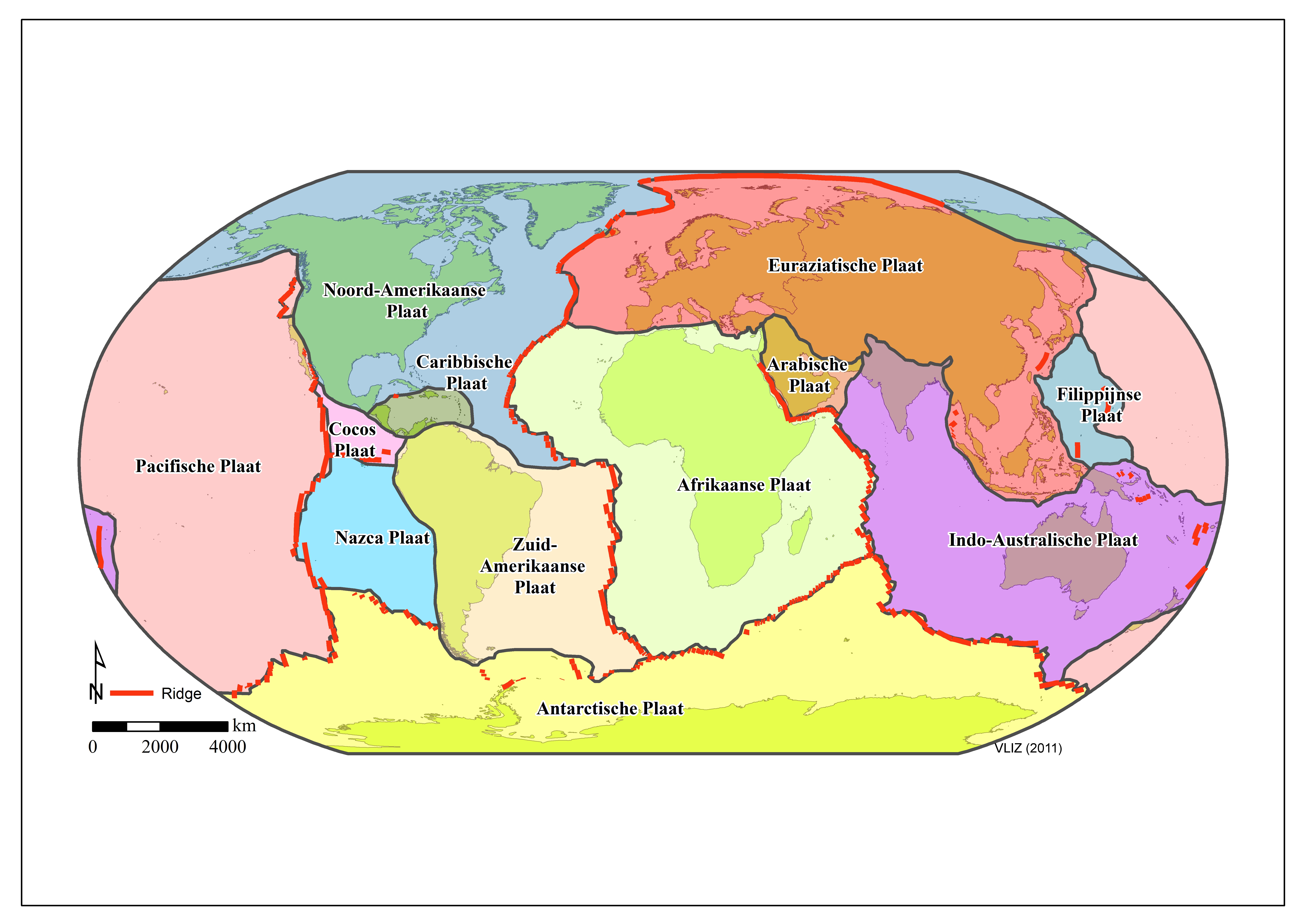 Marine Regions Photogallery - Plate tectonics map