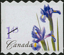 Canadian Postage Stamp (2004): Purple Dutch Iris