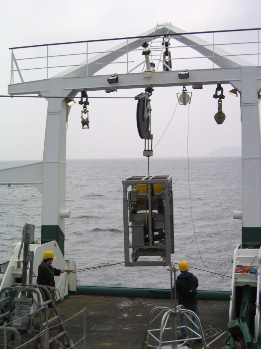 ROV into the water