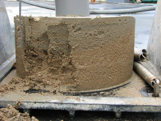 Boxcore 3. Side-view where we clearly see two different types of sediment