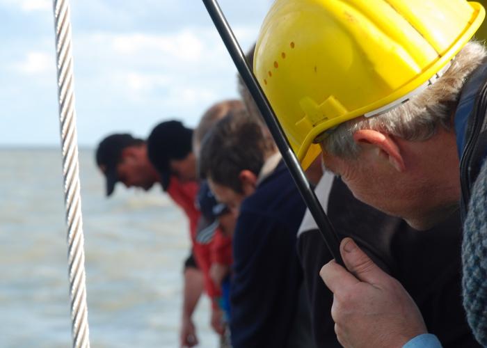 ILVO aan het werk op de Zeeleeuw