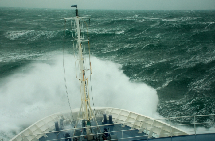 Storm op zee