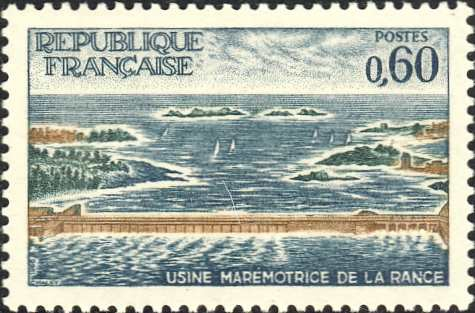 France, Bretagne, tidal power station La Rance