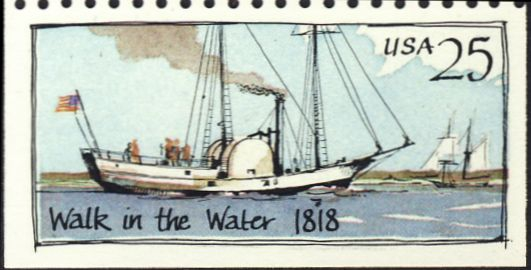 "Amerikaans stoomschip ""Walk-in-the-water"" (1818-1821)"