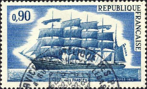 """Franse vijfmaster """"France II"""" (1912)"""