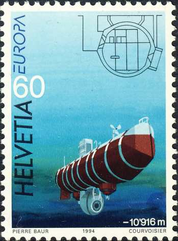 Zwitserse duikboot &quot;Bathyscaphe Trieste&quot; (1954)