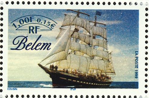 """Frans schoolschip """"Belem"""" (1896)"""
