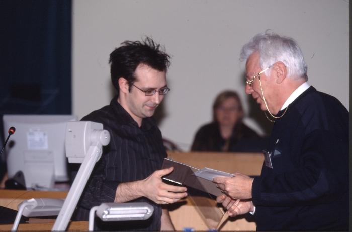 Uitreiking VLIZ Aanmoedigingspijs 2003