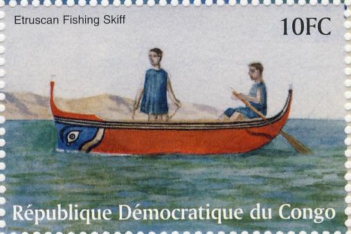 Etruskische vissersboot