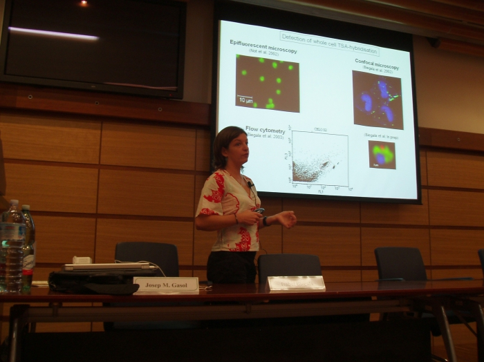 Picture of presentation by Biegala
