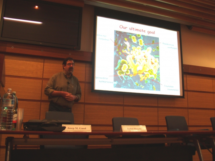 Picture of presentation by Gasol