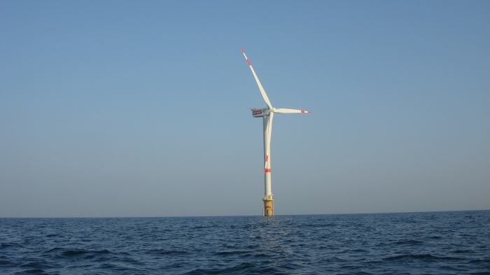 Windmolen op zee