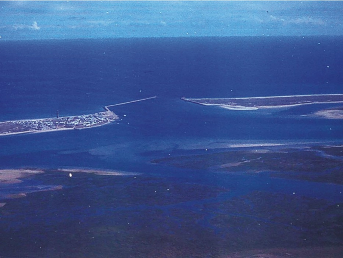 Aerial view of the Ria Formosa.