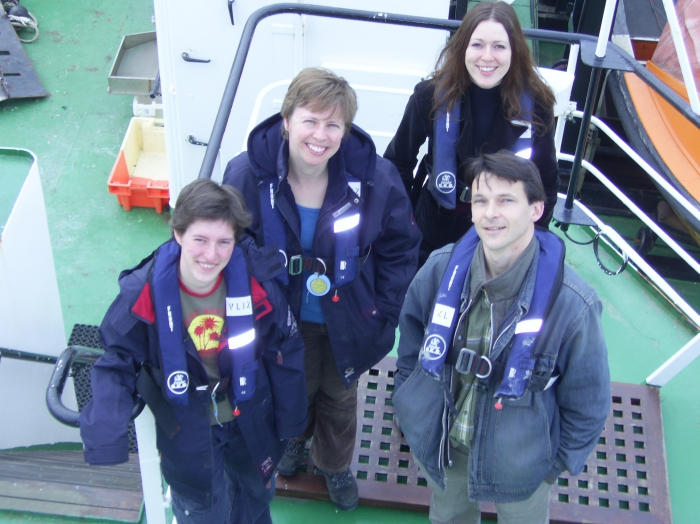 het VLIZ-expeditieteam