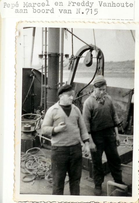 Aan boord van de N.715 Marcel (Bouwjaar 1958)