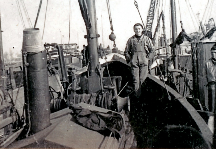 Aan boord van de N.717 Gabrielle (Bouwjaar 1932)