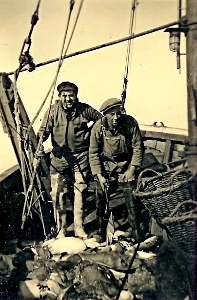 Charles Pinte en Andre Vanhove met vangst