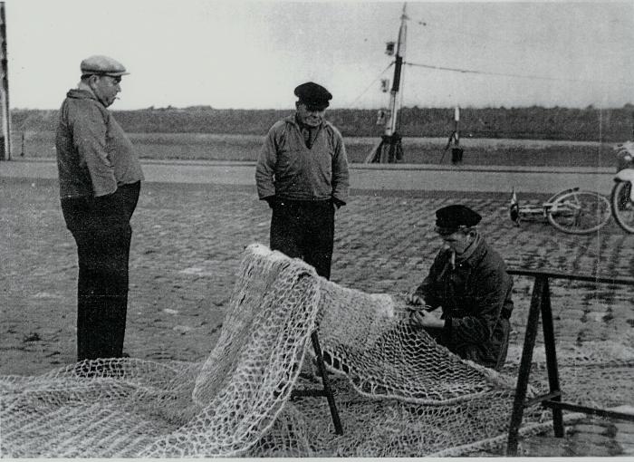 Vissers met net