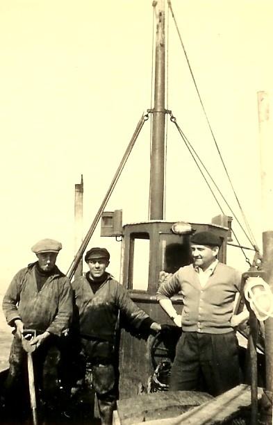 Vissers aan boord van de N.136