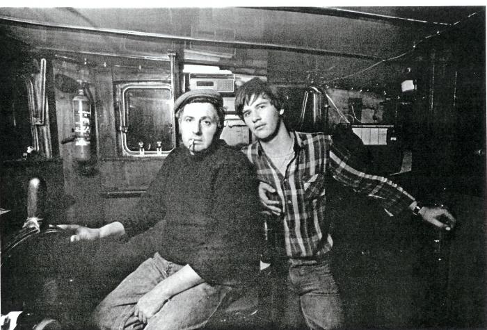 Charles Calcoen en Peter aan boord van de N.720