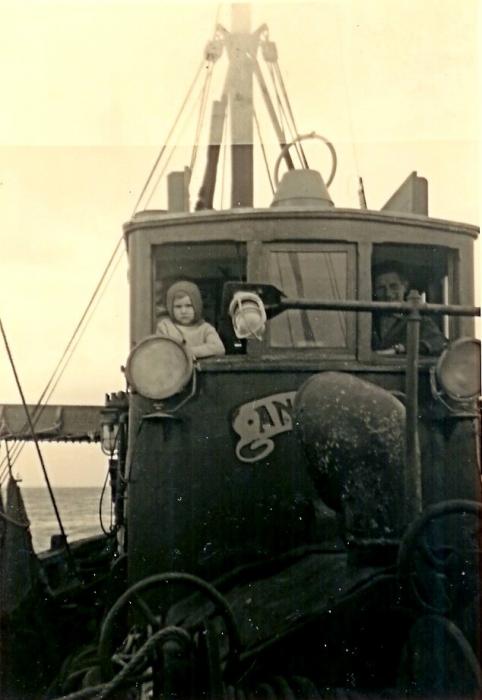 Op de brug van de N.701 Angelus (Bouwjaar 1955)