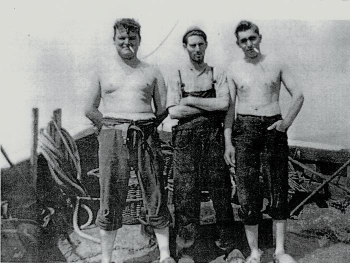 Yvo Lycke (midden) en Edmond Everaert (rechts)