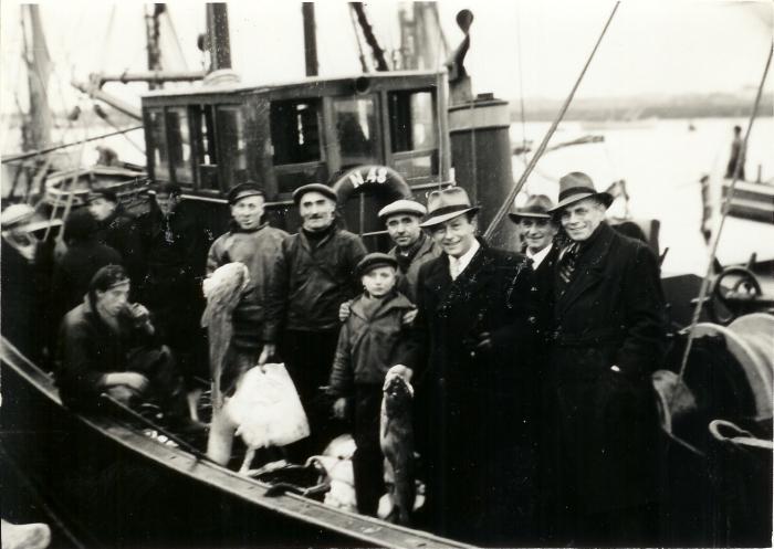 Bemanning en passagiers op de N.48
