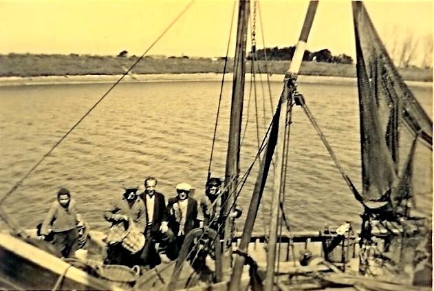 Aan boord van de N.136 te Nieuwpoort