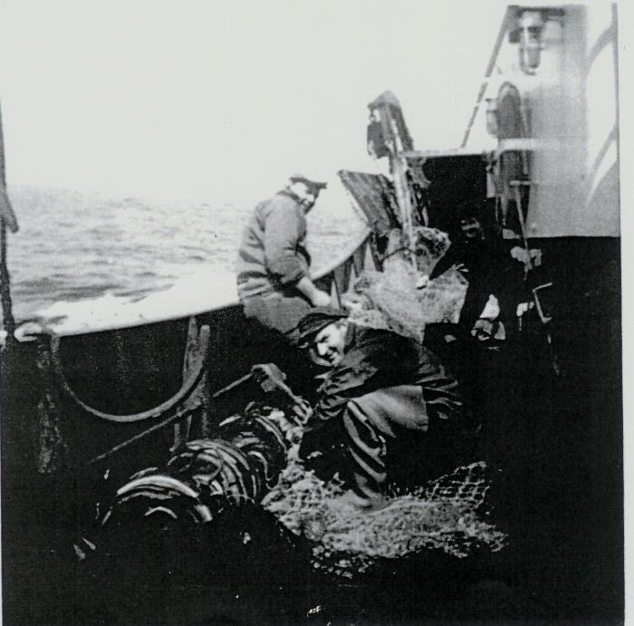 Aan boord van de N.736 Lucky (Bouwjaar 1969)