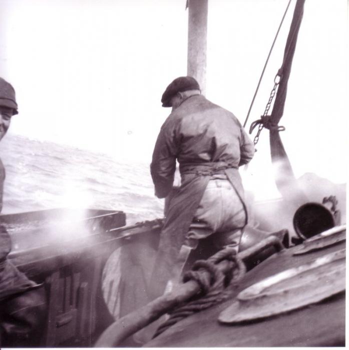Garnalen koken aan boord