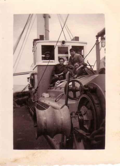 Op de brug van Z.540 Neptune (Bouwjaar 1945)