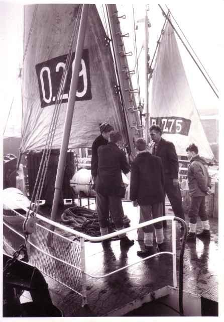 Juist voor afvaart op oefenschip O.29