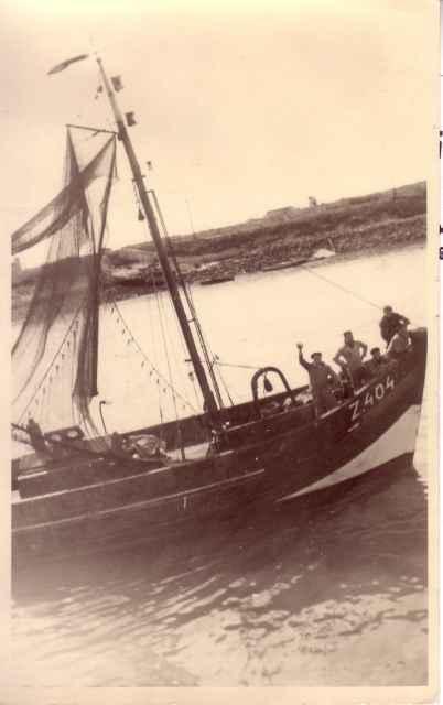 Aan boord van de Z.404 Laura-Camiel-Anne (bouwjaar 1945)