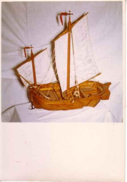 Scheepsmodel van Blankenbergse of Heistse schuit