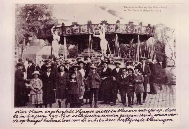 Zweefmolen op Zomerfeest te Zierikzee in augustus 1917