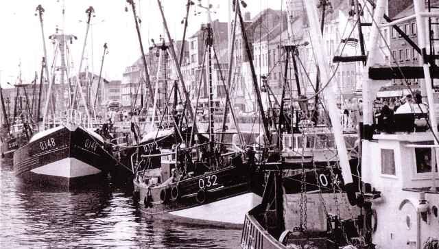 Garnaalvissers in Montgomerydok Oostende