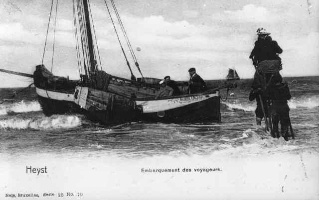 Spelevaren op Noordzee.