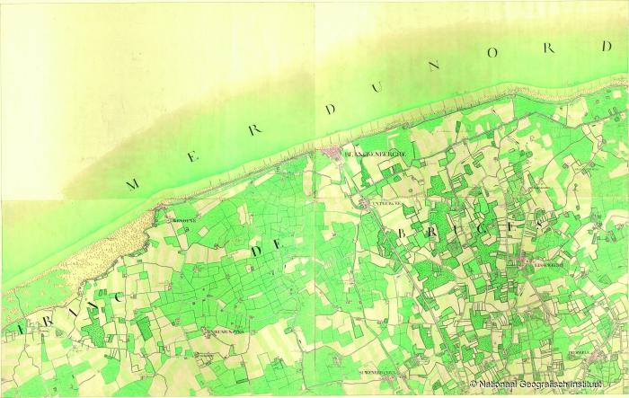 Blanckenberghe. Kwartblad 13/1, 13/2 en 13/3 - 1771-1778