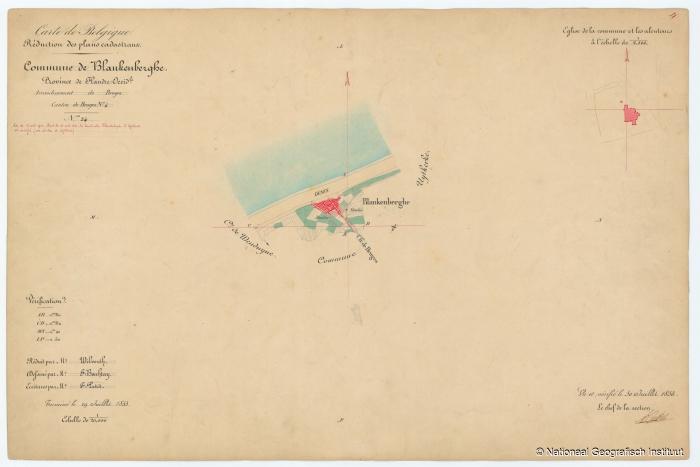 Commune de Blankenberghe - 1853