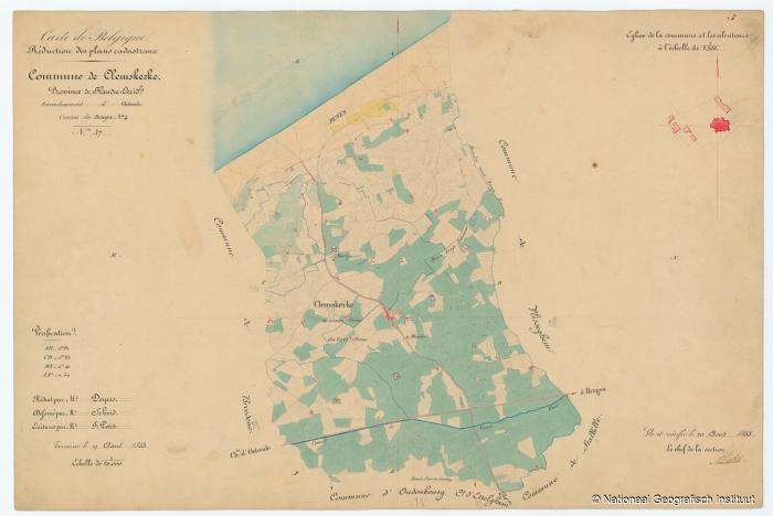 Commune de Clemskerke - 1853