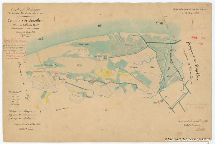 Commune de Knocke - 1853