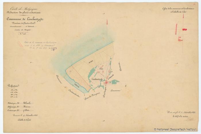 Commune de Lombartzyde - 1853