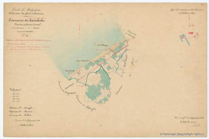 Commune de Mariakerke - 1853