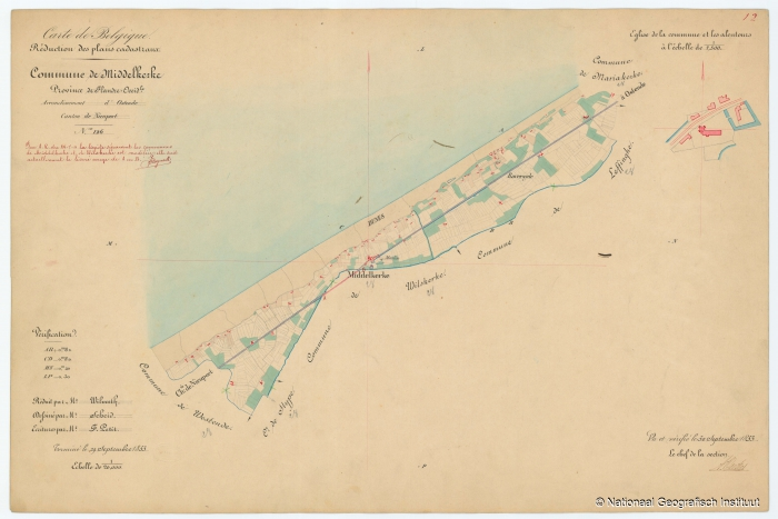 Commune de Middelkerke - 1853