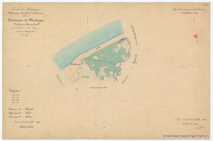 Commune de Wenduyne - 1853