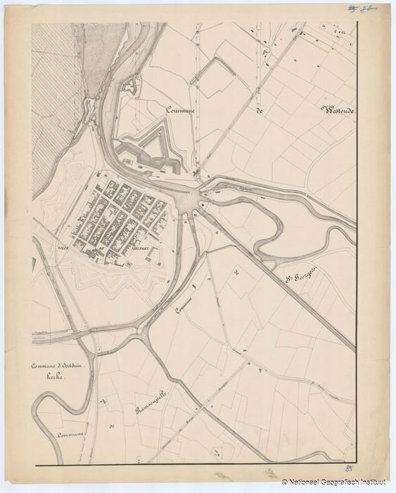 Oostduinkerke, Nieuwpoort, Westende, Sint-Joris en Ramskapelle - 1874