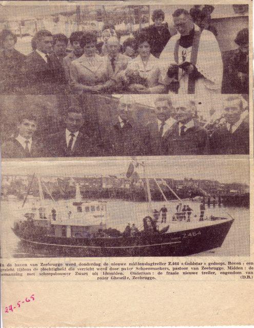 Doop Z.464 Goldstar (Bouwjaar 195) in haven Zeebrugge