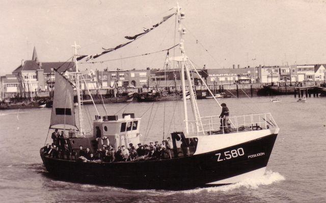Doop Z.580 Poseidon (Bouwjaar 1963) te Zeebrugge