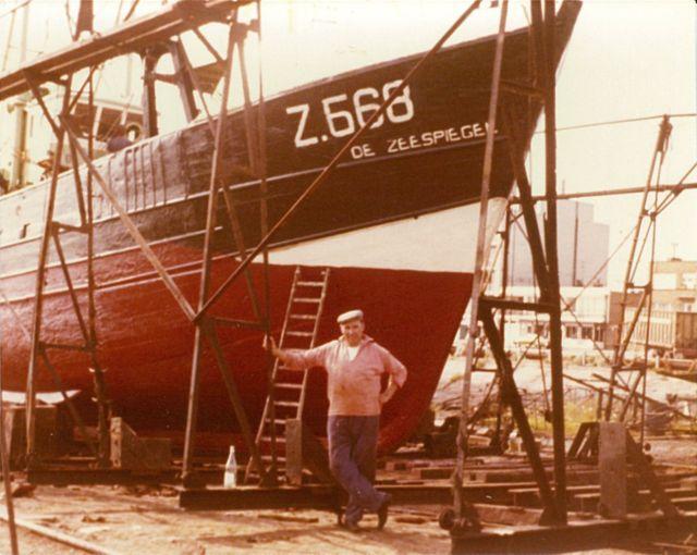 Ren� Vlietinck voor de Z.568 Zeespiegel (bouwjaar 1962)