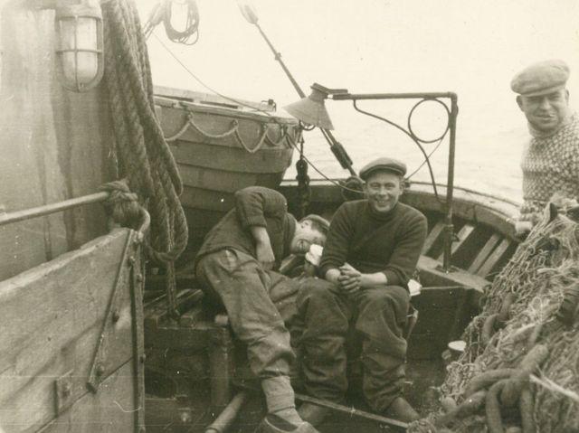 Aan boord van de Z.449 Zeemanshoop (bouwjaar 1945)